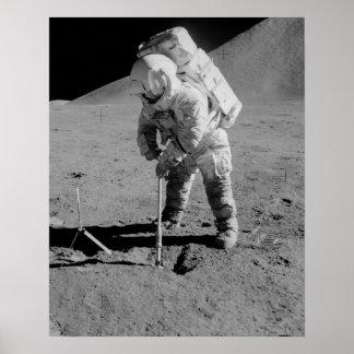 Apollo 15 Astronaut on the Moon Poster