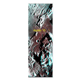 Apollo 15 Landing Site Anaglyph Mini Business Card