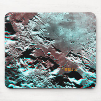 Apollo 15 Landing Site Anaglyph Mousepad