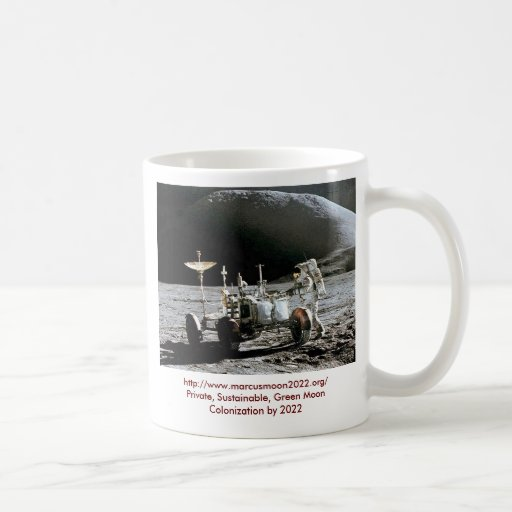 Apollo 15 Lunar Rover - Moon Colony 2022 Classic White Coffee Mug
