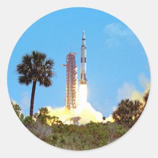 Apollo 16 Launch Classic Round Sticker
