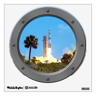 Apollo 16 Launch Porthole Wall Decal