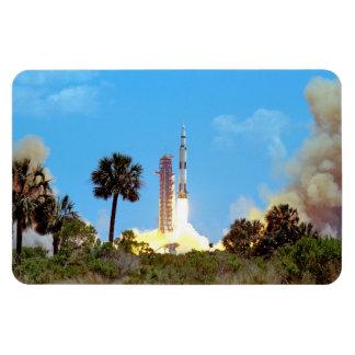 Apollo 16 Launch Rectangular Photo Magnet