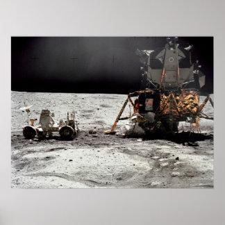 Apollo 16 Lunar Module & Lunar Roving Vehicle Poster