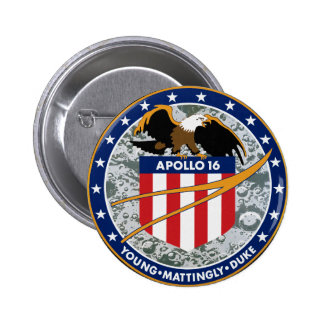 Apollo 16 Mission Patch Pinback Buttons