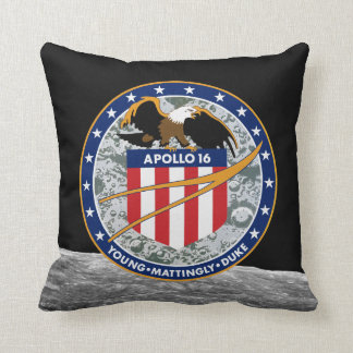 Apollo 16 Mission Patch Pillow