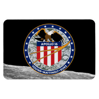 Apollo 16 Mission Patch Rectangle Magnet