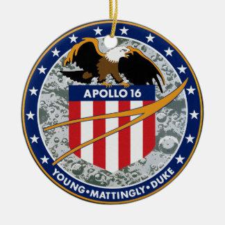 Apollo 16 NASA Mission Patch Logo Ceramic Ornament