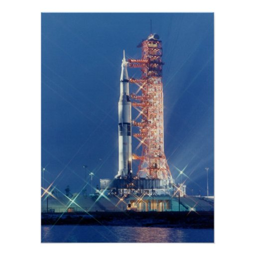 Apollo 16 on the Launch Pad Print
