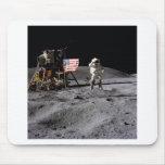 Apollo 16 Salute Mouse Pad