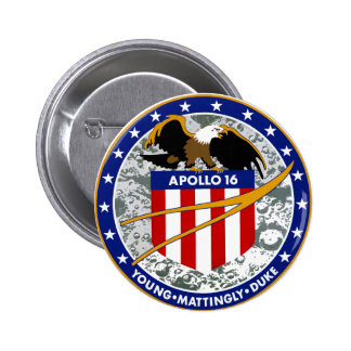 Apollo 16:  The Penultimate Flight Pinback Buttons