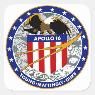Apollo 16:  The Penultimate Flight Square Sticker