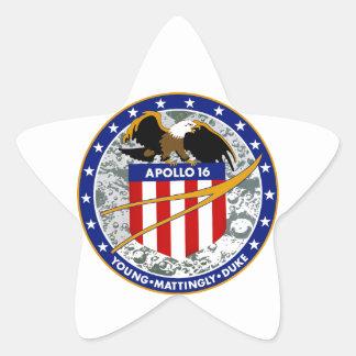 Apollo 16:  The Penultimate Flight Star Sticker