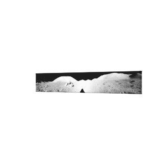Apollo 17 assembled panorama 2 canvas print