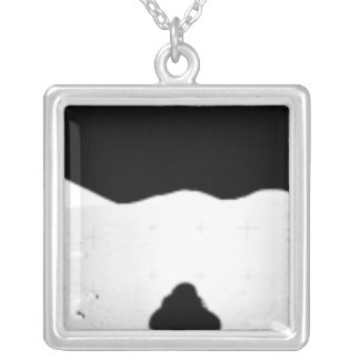 Apollo 17 assembled panorama 2 silver plated necklace