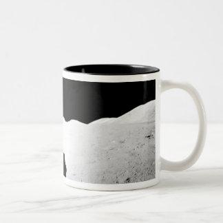 Apollo 17 assembled panorama 2 Two-Tone coffee mug