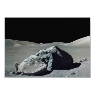 Apollo 17 Astronaut and Vehicle on the Moon Card