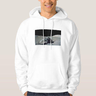 Apollo 17 Astronaut and Vehicle on the Moon Hoodie