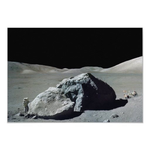 Apollo 17 Astronaut and Vehicle on the Moon Personalized Invites