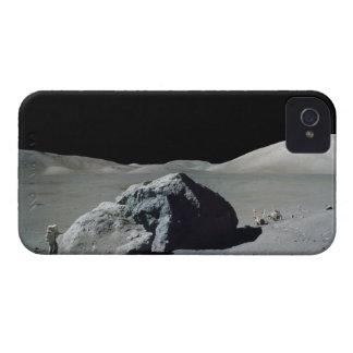 Apollo 17 Astronaut and Vehicle on the Moon iPhone 4 Cover