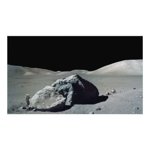 Apollo 17 Astronaut and Vehicle on the Moon Photo Print