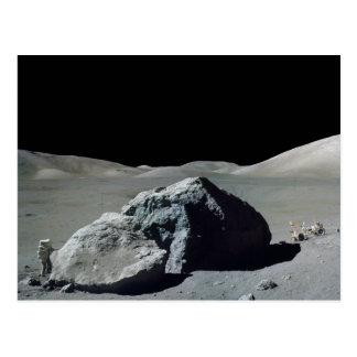 Apollo 17 Astronaut and Vehicle on the Moon Postcard