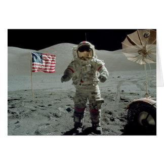 Apollo 17 Astronaut in the Taurus Littrow Valley Card
