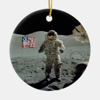 Apollo 17 Astronaut in the Taurus Littrow Valley Ceramic Ornament