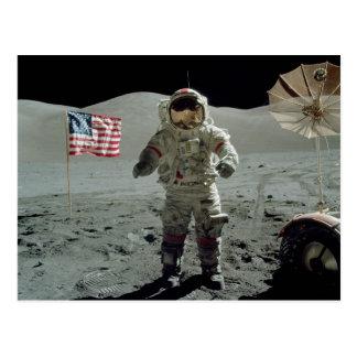Apollo 17 Astronaut in the Taurus Littrow Valley Postcard