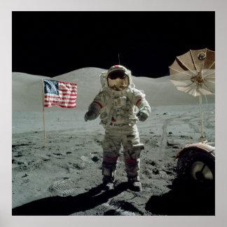 Apollo 17 Astronaut in the Taurus Littrow Valley Poster
