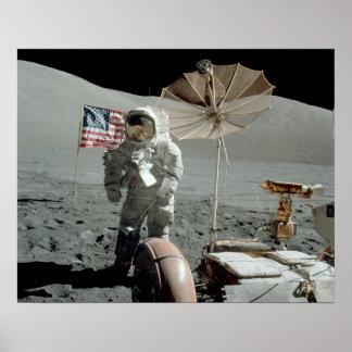 Apollo 17 Astronaut & LRV Poster