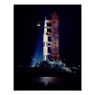 Apollo 17 at the Launch Pad Poster