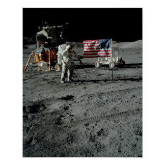 Apollo 17 Landing Site Poster