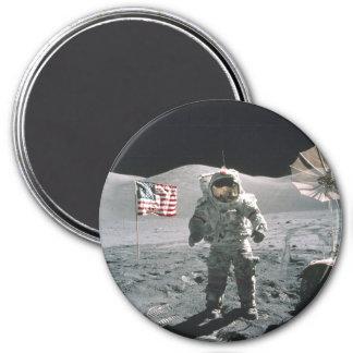 Apollo 17 Last Man on the Moon Refrigerator Magnet