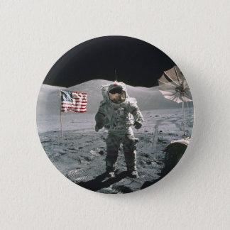 Apollo 17 Last Man on the Moon Pinback Button