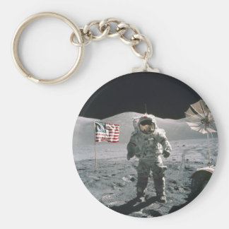 Apollo 17 Last Moon Walk Key Chain