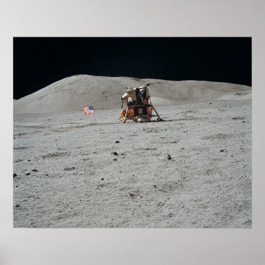 Apollo 17 Lunar Module Landing Site Poster