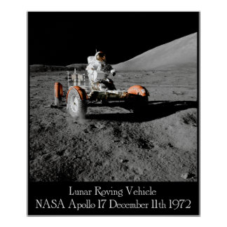 Apollo 17 Lunar Vehicle Poster