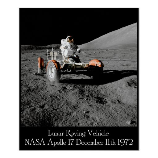 Apollo 17 Lunar Vehicle Poster Poster