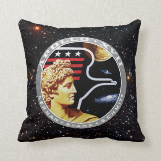 Apollo 17 Mission Patch Throw Pillows