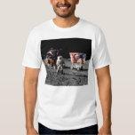 Apollo 17 moon base (front) t shirts