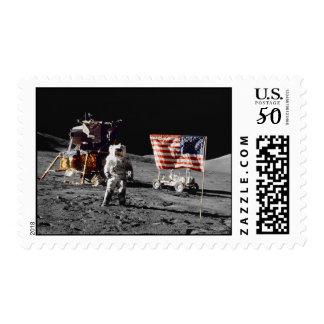 Apollo 17 moon base (medium) postage