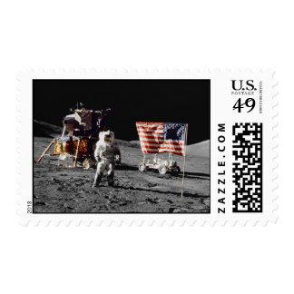 Apollo 17 moon base (medium) postage stamp