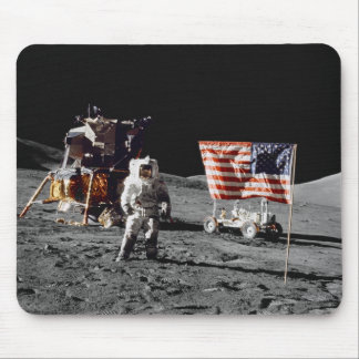 Apollo 17 moon base mouse pad