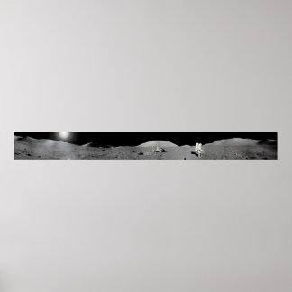 Apollo 17 Moon Panorama Poster