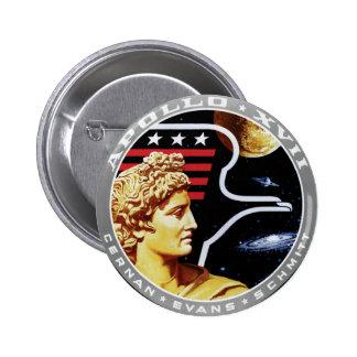 Apollo 17 NASA Mission Patch Logo Button
