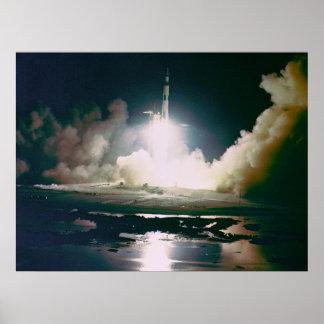 Apollo 17 Night Launch Poster