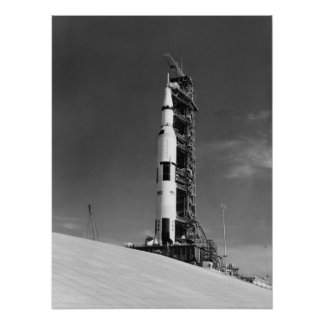 Apollo 17 on the Launch Pad Poster