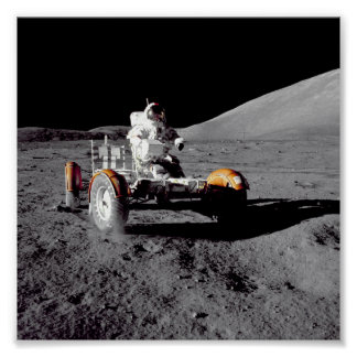 Apollo 17 Rover Poster