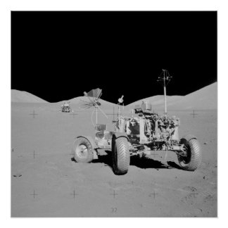 Apollo 17 Taurus-Littrow Landing Site Poster
